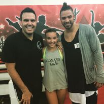 Kendall Vertes with Angel Armas and Victor Smalley 2015-07-23