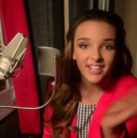Kendall K in music recording studio - Heartsmile - 4May2015