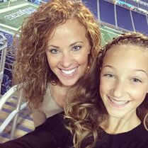 Ava and Jeanette breast cancer awareness stadium