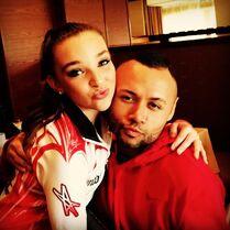 Kendall with James Washington 25Oct2014