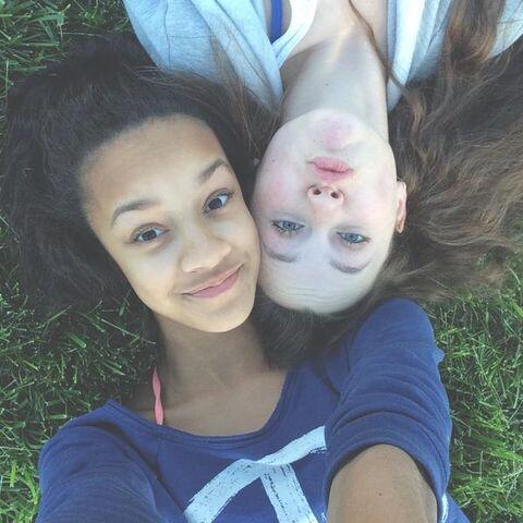 File:Kaeli Ware and Bella Hoffheins April2015 02.jpg