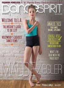 Maddie Ziegler May-June Dance Spirit Magazine cover