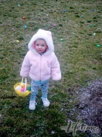 Young Paige at Easter