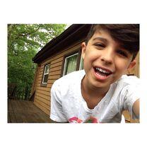 Lucas non-filter selfie