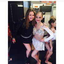 Sarah Reasons with choreographer of solo Alexa Moffett 2014-11-15