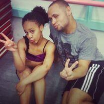 Nia with James Washington
