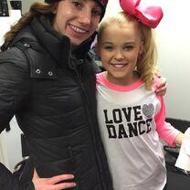 Chloe Smith with JoJo Siwa