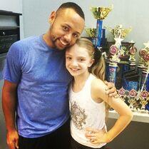 Sarah Hunt with James Washington