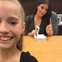 Mackenzie at Kim Kardashian book signing