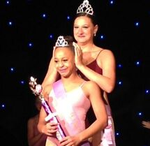 Nia crowned by Nina July 2014 Sheer Talent nationals