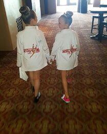 720 Elliana and Lilliana at Competition