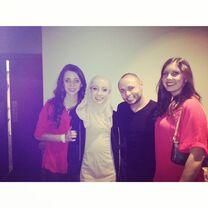 Chloe Smith with Jennine James and Rachael