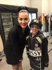 Kaycee Rice and Katy Perry Super Bowl 2015