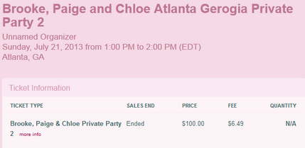 Meet and Greet price