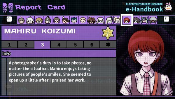 Mahiru Koizumi's Report Card Page 3