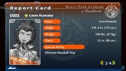Leon Kuwata's Report Card (Deceased)