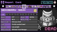Nekomaru Nidai's Report Card (Deceased)