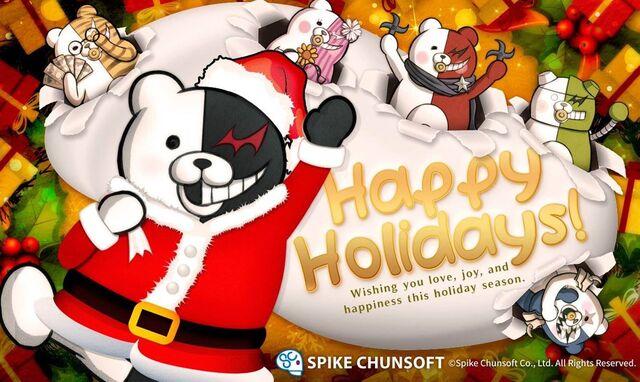 File:Spike Chunsoft Monokuma and Monokumarz Happy Holidays Card.jpg