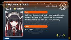 Celestia Ludenberg Report Card Page 3