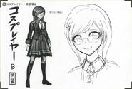 Art Book Scan Danganronpa V3 Character Designs Betas Tsumugi Shirogane (5)