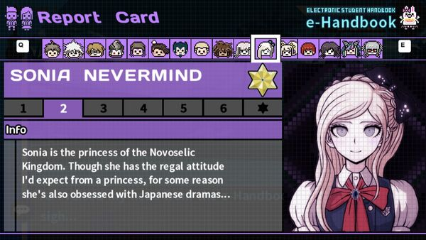 Sonia Nevermind's Report Card Page 2