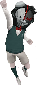 File:Monokuma Kid Male Fullbody 3D Model.png