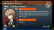 Byakuya Togami Report Card Page 6