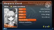 Junko Enoshima's Report Card (Deceased)