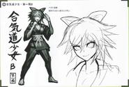 Art Book Scan Danganronpa V3 Character Designs Betas Tenko Chabashira (2)
