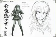 Art Book Scan Danganronpa V3 Character Designs Betas Tenko Chabashira (1)