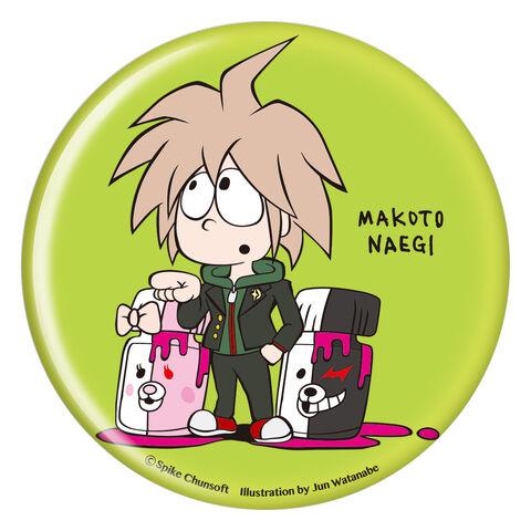 File:Danganronpa x Jun Watanabe Can Badge Makoto Naegi.jpg