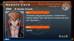 Mondo Owada Report Card Page 4