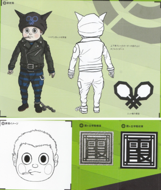 File:Art Book Scan Danganronpa V3 Ryoma Hoshi Designs.png