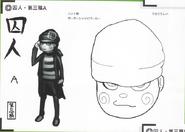 Art Book Scan Danganronpa V3 Character Designs Betas Ryoma Hoshi (4)