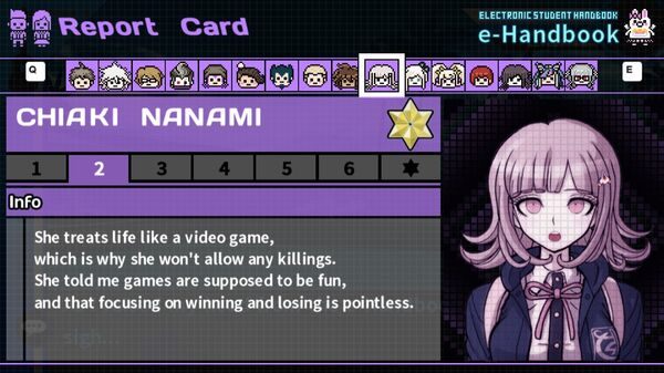 Chiaki Nanami's Report Card Page 2