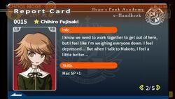 Chihiro Fujisaki Report Card Page 2