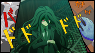 Izuru being framed by Junko