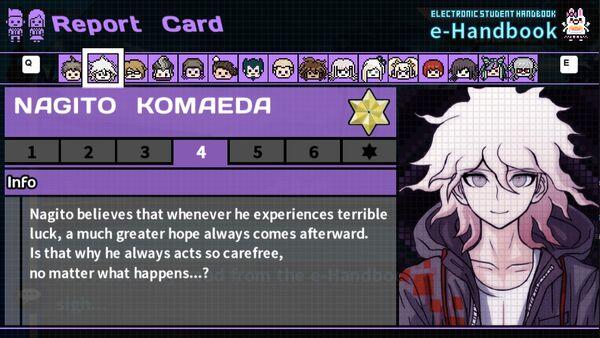 Nagito Komaeda's Report Card Page 4