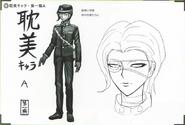 Art Book Scan Danganronpa V3 Character Designs Betas Korekiyo Shinguji (1)
