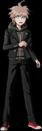 File:Danganronpa 1 Makoto Naegi Sprite (PSP) 11.png