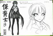 Art Book Scan Danganronpa V3 Character Designs Betas Maki Harukawa (7)
