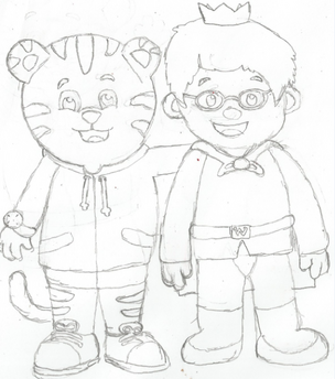 Daniel Tiger and Prince Wednesday Drawing