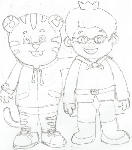 File:Daniel Tiger and Prince Wednesday Drawing.png