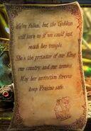 Goddess fallen scroll