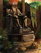 King alexandros statue