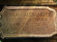Alexandros plaque
