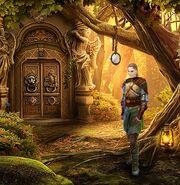 Gwyn in woods