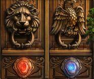 Fire and ice door