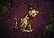Crooked cat puppet