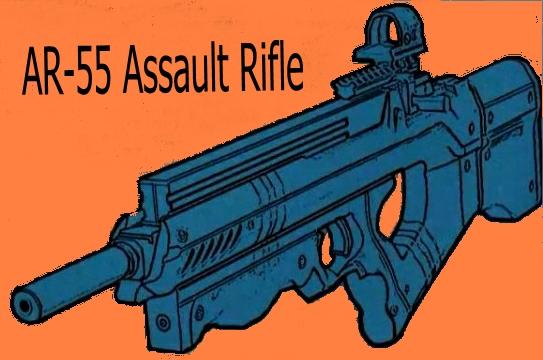 DoD AR-55 Assault Rifle 01a